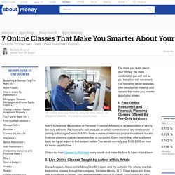 Get Smarter About Your Money With Free Online Classes