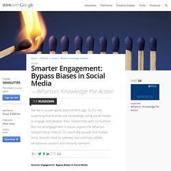 Smarter Engagement: Bypass Biases in Social Media