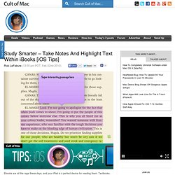 Study Smarter – Take Notes And Highlight Text Within iBooks [iOS Tips