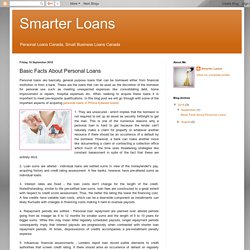 Smarter Loans: Basic Facts About Personal Loans