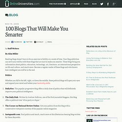 100 Blogs That Will Make You Smarter