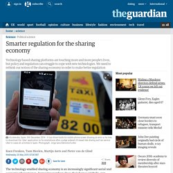 Smarter regulation for the sharing economy