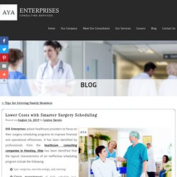 Lower Costs with Smarter Surgery Scheduling