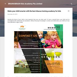 Make your child smarter with the best Abacus training academy for kids