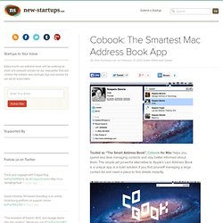 Cobook: The Smartest Mac Address Book App