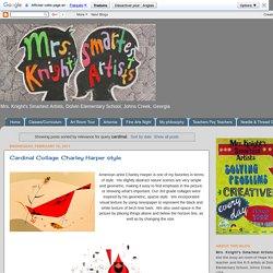Mrs. Knight's Smartest Artists: Search results for cardinal