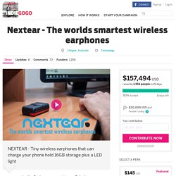 Nextear - The worlds smartest wireless earphones