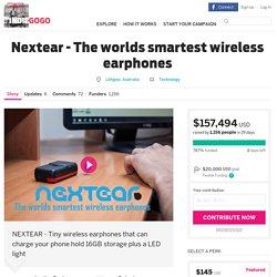 Nextear - The worlds smartest wireless earphones