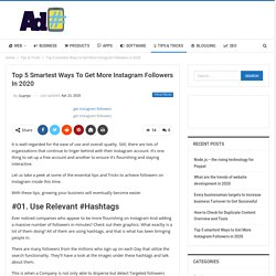 Top 5 smartest Ways to Get More Instagram Followers in 2020 - awdhesh