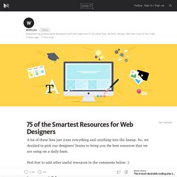 75 of the Smartest Resources for Web Designers – cmd + T – Medium