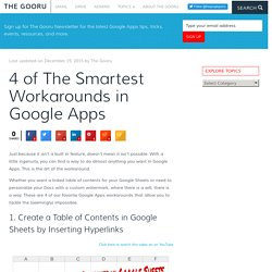 4 of The Smartest Workarounds in Google Apps