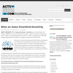Bilan du Salon SmartGrid-SmartCity - Actu-SmartGrids