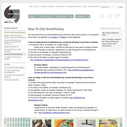 Smarthistory, a multimedia web-book about art: discussing How To Cite Smarthistory