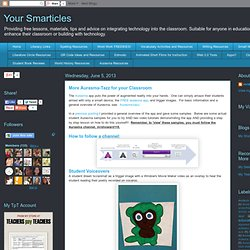Your Smarticles: More Aurasma-Tazz for your Classroom