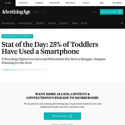 25% of Toddlers Have Used a Smartphone | Ad Age Stat