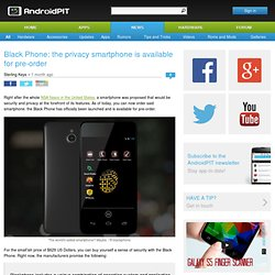 Black Phone: the privacy smartphone is available for pre-order