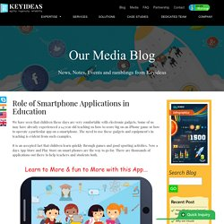 Role of Smartphone Applications in Education