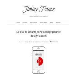 Ce que le smartphone change au design eBook