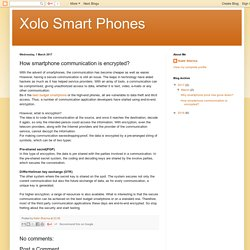 Xolo Smart Phones: How smartphone communication is encrypted?