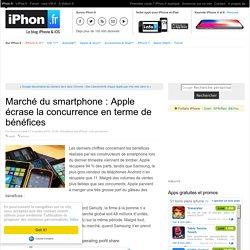 Marché du smartphone : Apple écrase la concurrence en terme de bénéfices