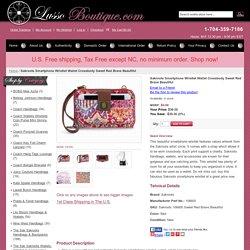 Sakroots Smartphone Wristlet Wallet Crossbody Sweet Red Brave Beautiful