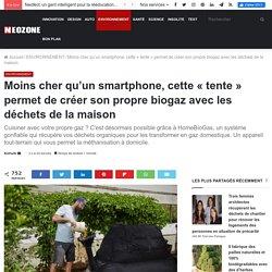 """Moins cher qu'un smartphone, cette """"tente"""" permet de créer son propre biogaz avec les déchets de la maison - NeozOne"""