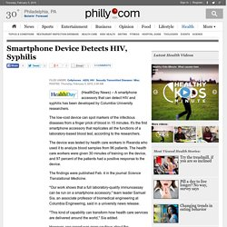 Smartphone Device Detects HIV, Syphilis