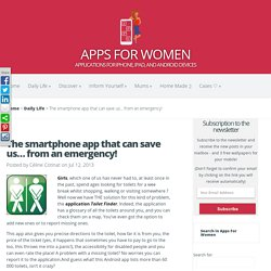 The smartphone app that can save us... from an emergency!