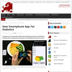HACCP EUROPE 05/06/14 New Smartphone App For Diabetics
