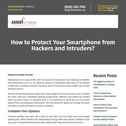 Protect Your Smartphone from Hackers and Intruders
