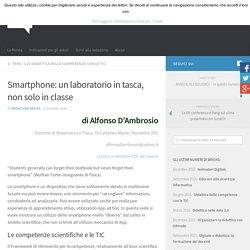 Smartphone: un laboratorio in tasca, non solo in classe – BRICKS