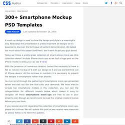 200+ Smartphone Mockup PSD Templates