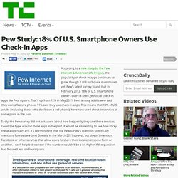 Pew Study: 18% Of U.S. Smartphone Owners Use Check-In Apps