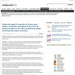 Fujitsu fait appel à l'expertise de Joomeo pour équiper son dernier smartphone d'un service de partage de photos et de vidéos parfaitement adapté aux besoins des séniors en France.
