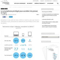 Le smartphone privilégié pour accéder à la presse en ligne