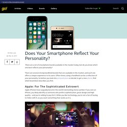 Does Your Smartphone Reflect Your Personality?