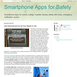Smartphone Apps for Safety: Use Hand Device For All Your Needs In Life