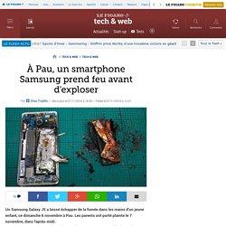 À Pau, un smartphone Samsung prend feu avant d'exploser