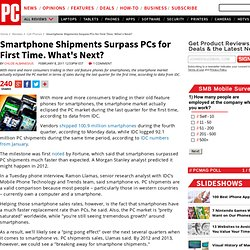 Smartphone Shipments Surpass PCs for First Time. What's Next?