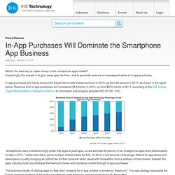 In-App Purchases Will Dominate the Smartphone App Business - Media Market Research at iSuppli
