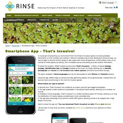 Smartphone App - That's Invasive!
