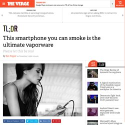This smartphone you can smoke is the ultimate vaporware
