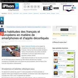 Les habitudes des français et Européens en matière de smartphones et d'applis décortiqués - iPhone 6s, 6s Plus, iPad et Apple Watch : blog et actu par iPhon.fr