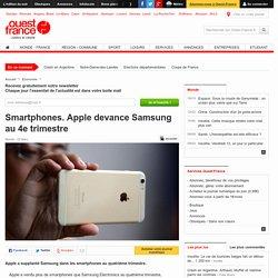 Smartphones. Apple devance Samsung au 4e trimestre