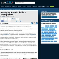 Managing Android Tablets, Smartphones - The Enterprise