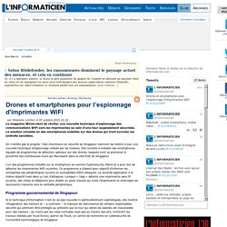 Drones et smartphones pour l'espionnage d'imprimantes WiFi