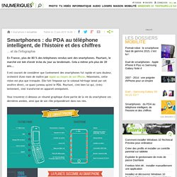 Smartphones: du PDA au téléphone intelligent, de l'histoire et des chiffres