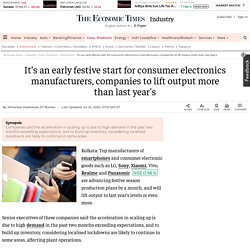 Consumer Electronics: It's an early festive start for consumer electronics, smartphones, Retail News, ET Retail
