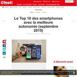 Le Top 10 des smartphones avec la meilleure autonomie (juillet 2015)