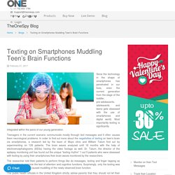 Texting on smartphones muddling Teen's Brain functions